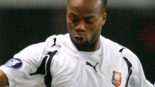 Sylvain Wiltord lors de son retour � Rennes de 2007 � 2009