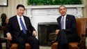 Barack Obama et le vice-président chinois Xi Jinping, qui devrait prendre les rênes du régime communiste en fin d'année, à la Maison blanche, à Washington. Le président américain a souligné mardi qu'il était vital pour les Etats-Unis d'avoir des relations