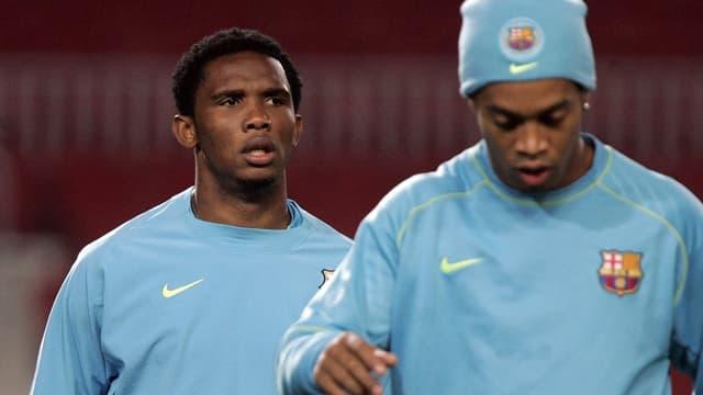 Samuel Eto'o et Ronaldinho