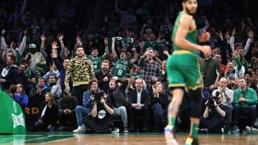 Le fans des Boston Celtics au TD Garden en février 2020