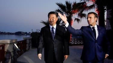 Emmanuel Macron et Xi Jinping à Beaulieu-sur-mer le 24 mars 2019