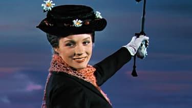 Julie Andrews dans Mary Poppins, en 1964.