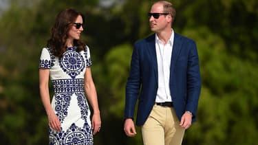 Kate et William devant le Taj Mahal en Inde le 16 avril 2016