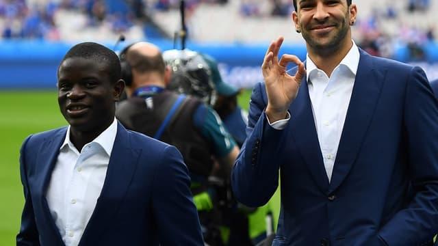 N'Golo Kanté et Adil Rami