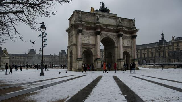 L'Arc de Triomphe du Carroussel du Louvre le 5 février 2018