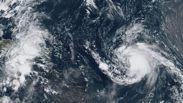 Photo satellite de l'ouragan Jerry en septembre 2019 au-dessus de l'Atlantique