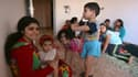 Cette famille chrétienne d'Irak a dû fuir Mossoul de se réfugier à Qaraqosh.