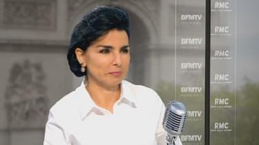 La maire du 7e arondissement de Paris Rachida Dati sur le plateau de BFMTV, le 28 mai 2013