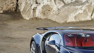 La Bugatti Chiron dispose d'un moteur W16 quadri-trubos 8 litres de 1500 chevaux.