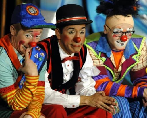 Des clowns du cirque Barnum, le 28 février 2012 à New-York