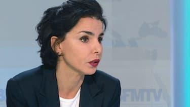 Rachida Dati sur le plateau de BFMTV, le 2 février 2015.