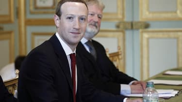 Mark Zuckerberg était reçu à l'Elysée ce 10 mai par Emmanuel Macron.