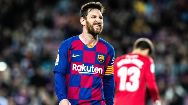 Lionel Messi lors d'un match Barça-Levante, au Camp Nou le 2 février 2020
