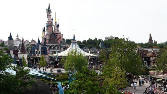 Vue de Disneyland Paris, à Marne-la-Vallée, le 13 août 2015.