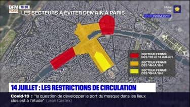 14 Juillet: des restrictions de circulation mises en place à Paris