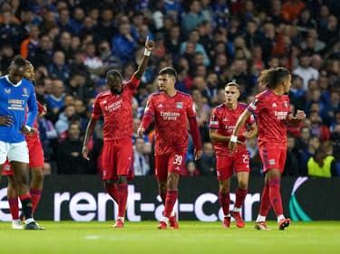 La joie des Lyonnais face aux Rangers