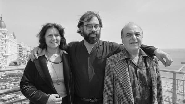 Francis Ford Coppola et ses parents au Festival de Cannes au 1979.