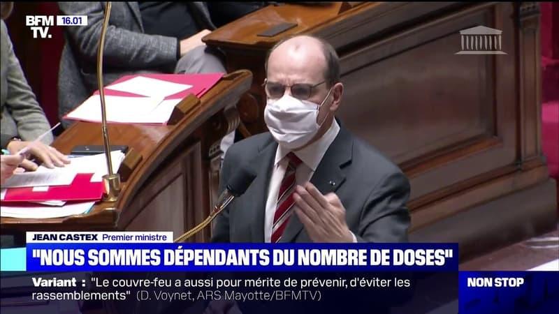 """""""Nous sommes dépendants du nombre de doses"""": Jean Castex répond aux députés sur les vaccins"""
