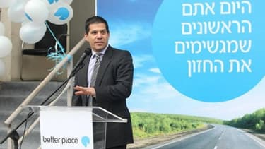 Shai Agassi, fondateur de Better Place, en 2009. La société israélo-américaine, partenaire de Renault, a fait faillite.