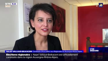 Auvergne-Rhône-Alpes: Najat Vallaud-Belkacem explique les raisons de sa candidature aux Régionales