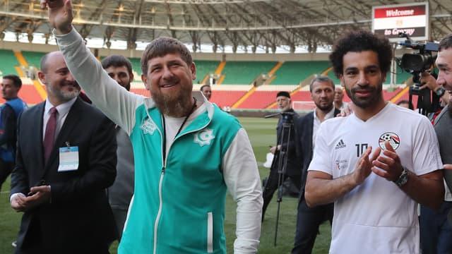 Ramzan Kadyrov et Mohamed Salah
