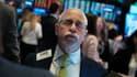 Le trader Peter Tuchman lors d'une clôture du NYSE.