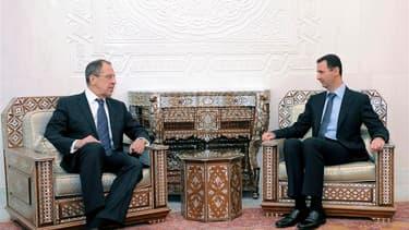 Le chef de la diplomatie russe, Sergueï Lavrov, s'est entretenu mardi avec le président Bachar al Assad trois jours après le veto de Moscou au Conseil de sécurité de l'Onu. Sur le terrain, les forces syriennes ont de nouveau pilonné des quartiers d'Homs,