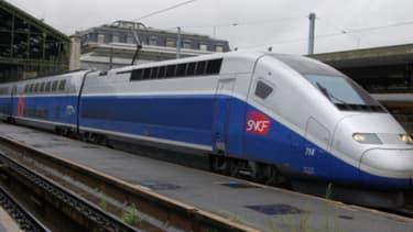 Un TGV, gare de Lyon à Paris (PHOTO D'ILLUSTRATION)