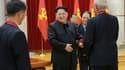 Kim Jong-un à un meeting avec ses scientifiques nucléaires.