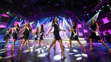 Les répétions du concours Miss Venezuela, le 30 juillet 2018