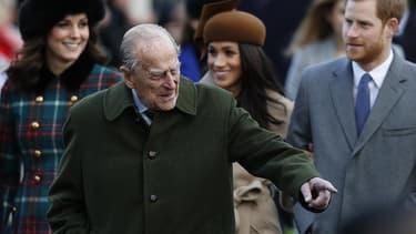 Le prince Philip, le 25 décembre 2017 à Sandringham.