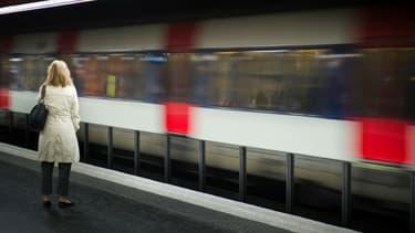 Le RER à la station Auber, à Paris. (photo d'illustration) -