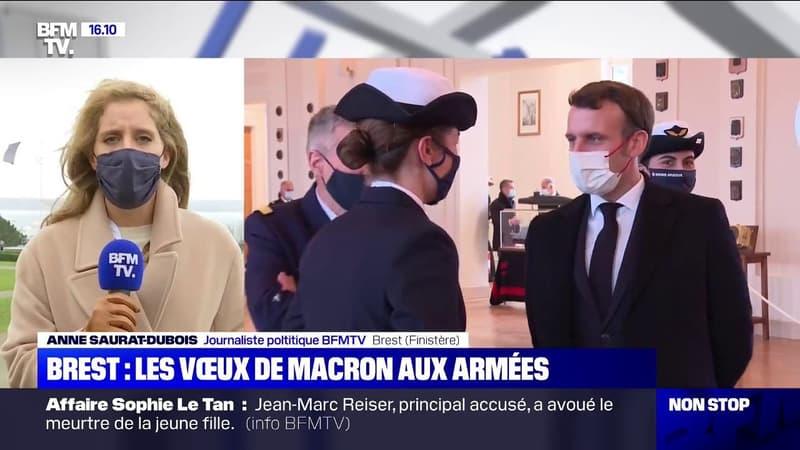 Emmanuel Macron adresse ses vœux aux armées à Brest