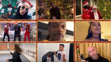 Quelques-unes des nombreuses célébrités de la vidéo