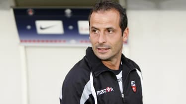 Ludovic Giuly, lors de son retour au Parc des princes avec le FC Lorient.