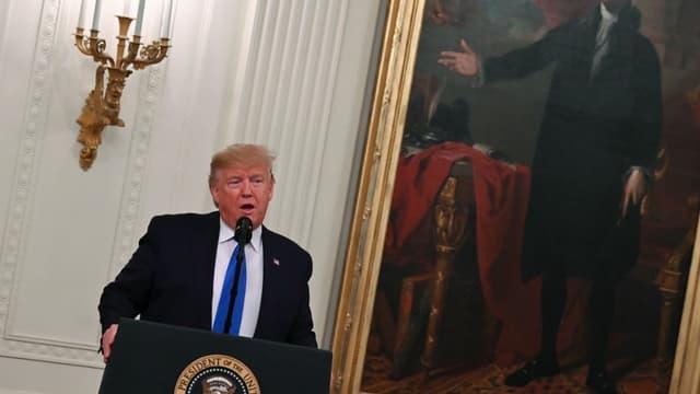 Donald Trump pendant une cérémonie de remise de la Médaille Nationale des Arts et celle des Humanités, à la Maison Blanche, le 21 novembre 2019 (photo d'illustration)