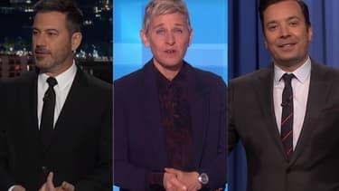 Jimmy Kimmel, Ellen DeGeneres et Jimmy Fallon