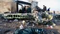 Des débris du Boeing 737 de la compagnie Ukraine International Airlines qui s'est écrasé le 8 janvier 2020 peu après son décollage de Téhéran (Iran).