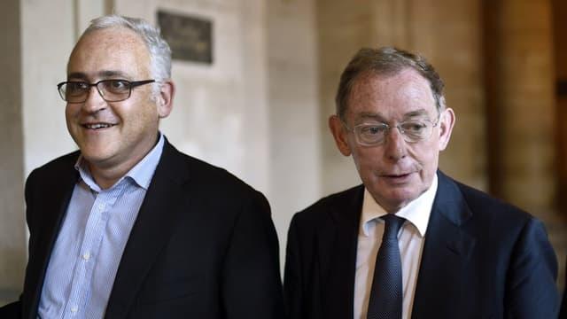 Noël Forgeard (à droite), l'ancien coprésident d'Airbus, fait partie des prévenus dans le médiatique procès EADS.