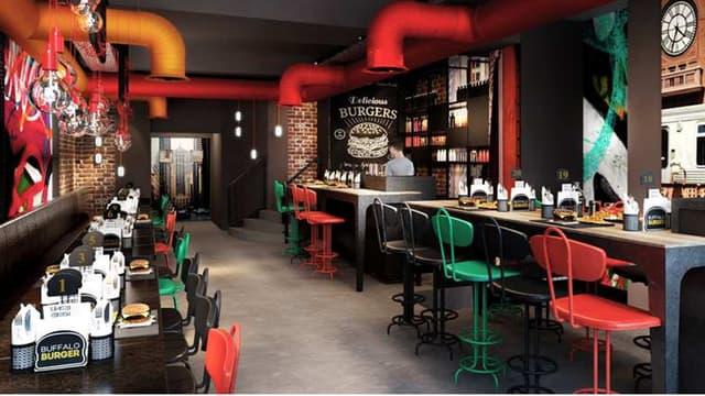 Les Buffalo Burger échangent les décors de western contre des décorations urbaines et contemporaines.