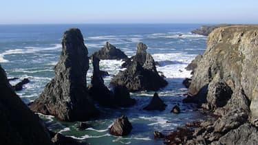 C'est dans rochers à l'ouest de Bangor, à Belle-île, que la femme a été emportée.