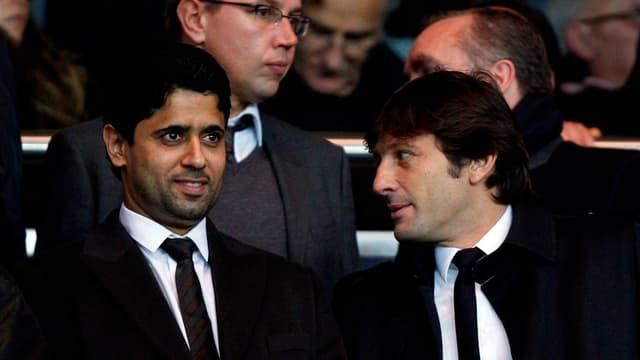 Nasser Al-Khelaifi et Leonardo
