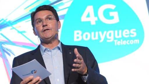 """Olivier Roussat, ici fin 2013, a assuré que cette mutualisation des réseaux """"sera sans impact sur l'emploi""""."""