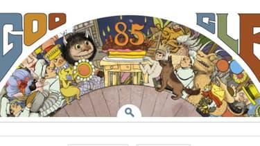 Google a mis en ligne ce lundi un très long Doodle pour célébrer le 85e anniversaire de l'écrivain et illustrateur de littérature enfantine, Maurice Sendak,  décédé l'année dernière.