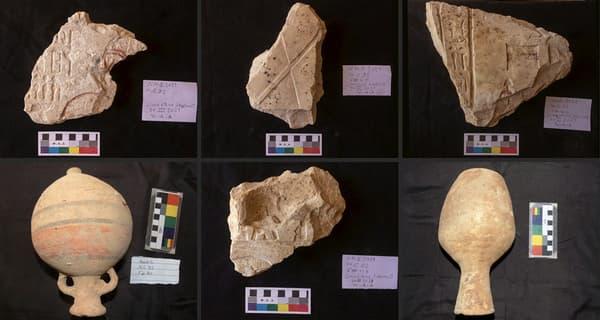 Des objets retrouvés dans les tombeaux