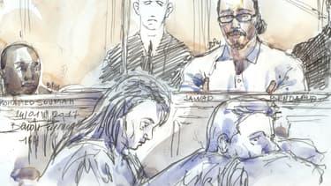 Jawad Bendaoud et Mohamed Soumah lors de leur procès