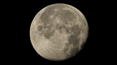 La Lune prise en photo depuis l'ISS.