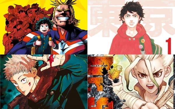 """My Hero Academia"", ""Tokyo Revengers"", ""Jujutsu Kaisen"" et ""Dr. Stone"""