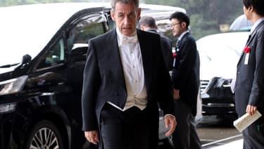 Nicolas Sarkozy lors de sa visite au Japon le 21 octobre 2019