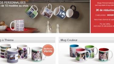 La création d'objets personnalisés a généré un chiffre d'affaires de 56,7 milions d'euros en 2011.